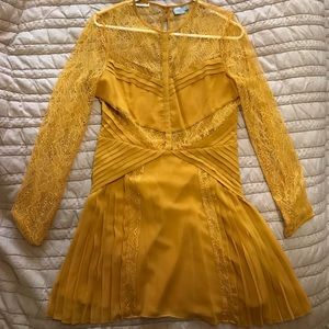 Mustard Yellow Lacey Asos Dress